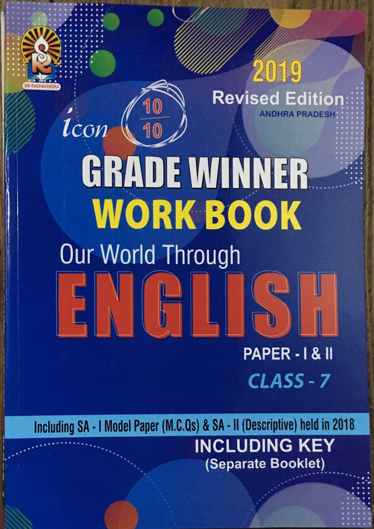 S R  Icon Grade winner Work Book English Class - 7